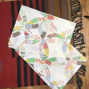 2 Vtg Sears Pillow Cases Perma Prest Muslin 42x36